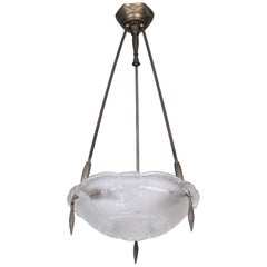 Exceptional 1920s French Art Deco Chandelier by Ernest Sabino
