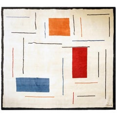 Boccara Limited Edition Handmade Artistic Wool Rug after Geneviève Claisse