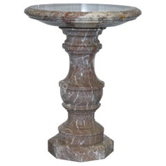 Lovely Large Solid Marble Side End Lamp Wine Occasional Centre Round Table