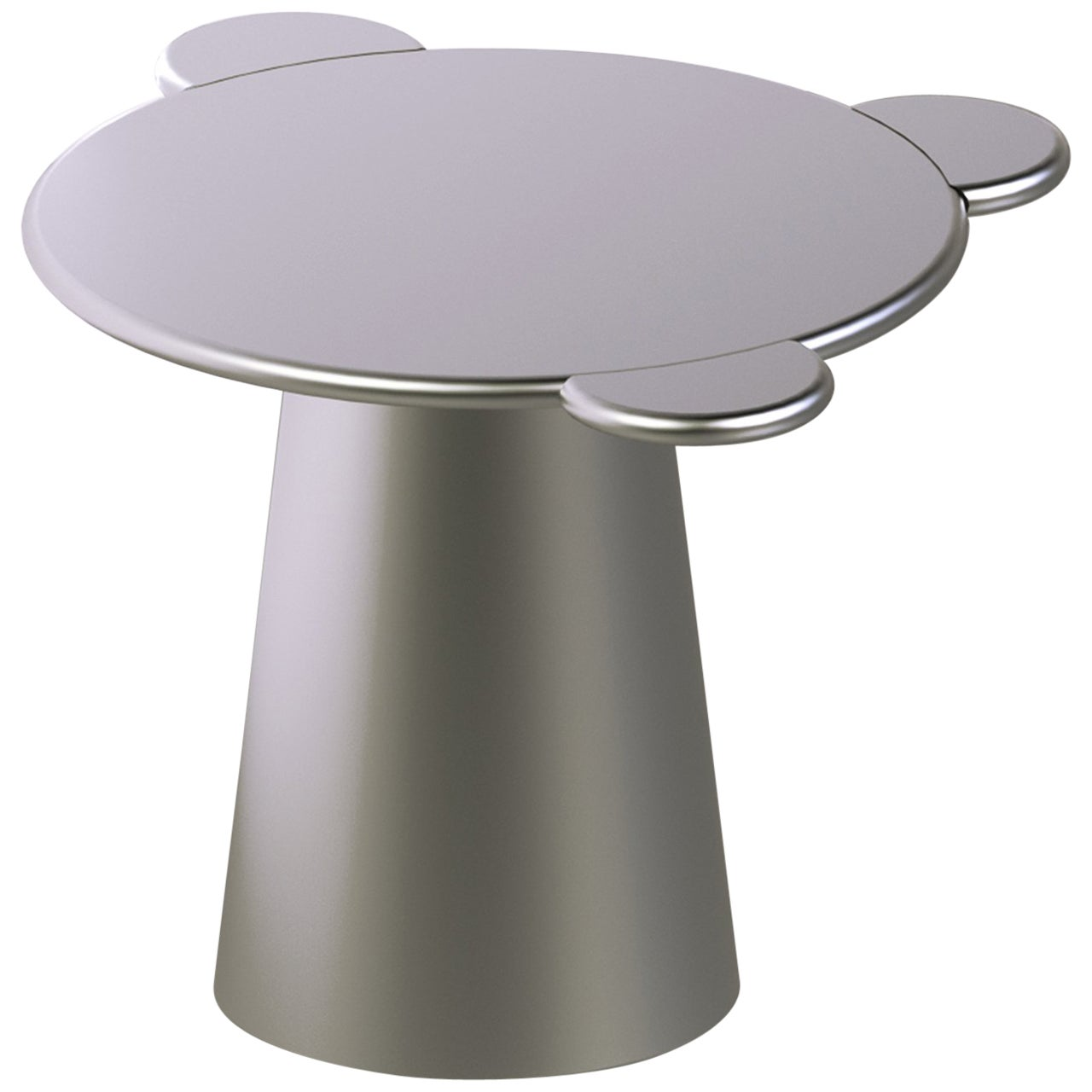 Contemporary Coffee Table Silver Donald Wood by Chapel Petrassi
