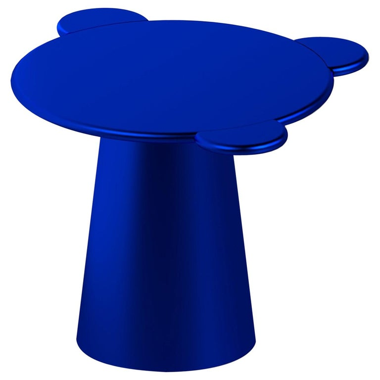 Chapel Petrassi Contemporary Coffee Table Blue Donald Lacquered Wood For Sale