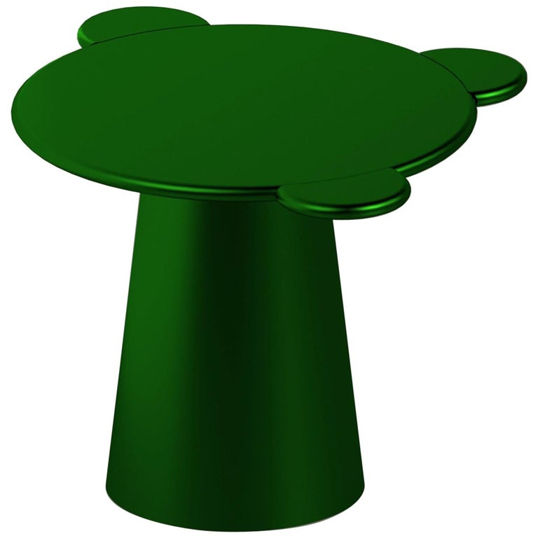 Contemporary Coffee Table Green Donald Wood by Chapel Petrassi For Sale