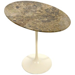 Eero Saarinen Tulip Side Table with Marble Top
