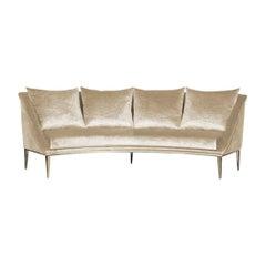 Koket Geisha Curved Sofa in Cream Velvet