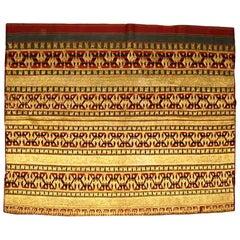 Indonesian Ceremonial Lampung Tapis Skirt