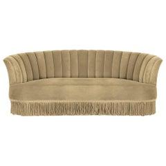 Koket Sevilliana Sofa in Beige Velvet