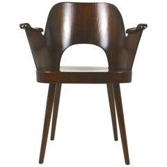Wooden Armchair by Lubomír Hofmann for Ton, 1950s