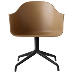 Harbour Chair, Swivel Base in Black Steel, Khaki Shell