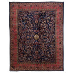 Antique Indian Sarouk Rug