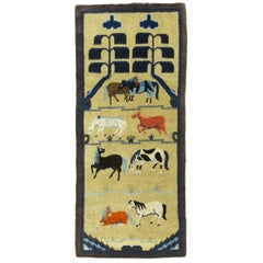 Chinese Animal Antique Pictorial Rug
