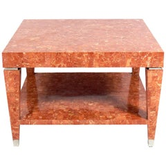 Tessellated Marble Coffee or End Table by Maitland-Smith