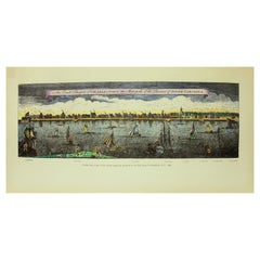 Hand Coloured Reprod, Print, Exact Prospect of Charlestown, the Metropolis of SC