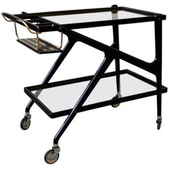 Two-Tiered Midcentury Italian Bar Cart