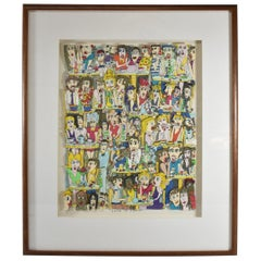 "James Rizzi 3-D Lithograph ""Cafe in Paris"" Framed"