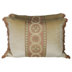 19th Century Embroidered Silk and Velvet Pillows by Melissa Levinson, a Pair