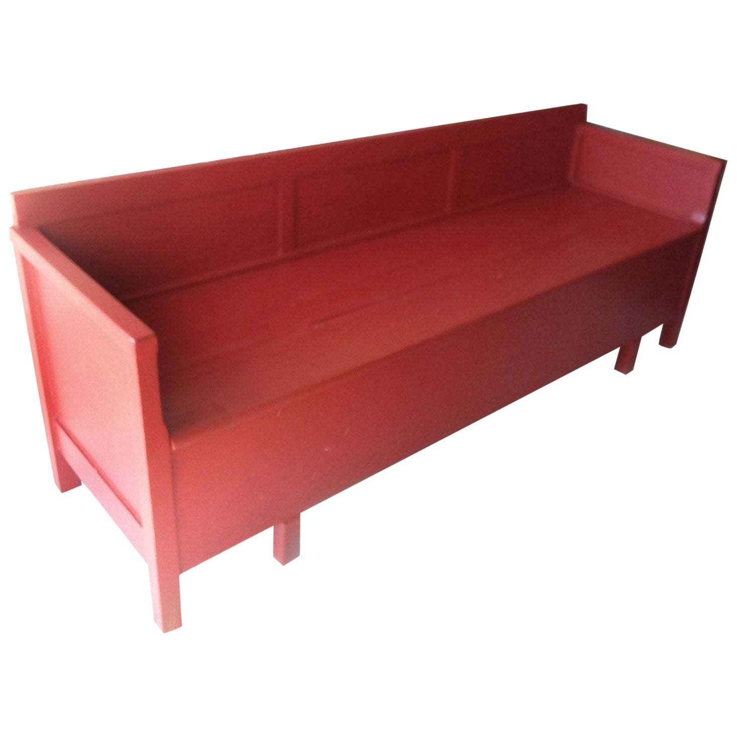 Antique Painted Red Swedish Daybed/Bench/Child's Bed