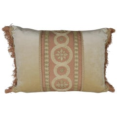 19th Century Embroidered Silk and Velvet Pillow by Melissa Levinson