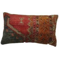 Bolster Turkish Angora Oushak Rug Pillow