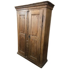 18th Century French Carved 2-Door Armoire