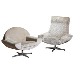 "1960s Two ""Capri"" Swivel Easy / Lounge Chairs by Johannes Andersen for Trensum"