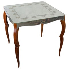 French Mirrored Card Table