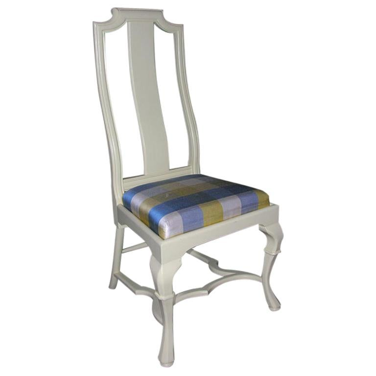 Asian Style Queen Anne Side Chair For Sale