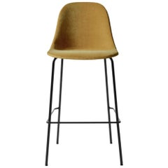 Harbour Side Bar Chair, Base in Black Steel, City Velvet CA7832/060 'Orange'