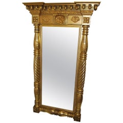 French 19th Century Pier Mirror/Overmantle Mirror