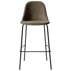 Harbour Side Bar Chair, Base in Black Steel, City Velvet CA7832/078 'Grey'
