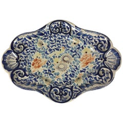 19th Century Earthenware Platter from Roeun France