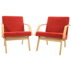 Set of Two Lounge Chair by Expo 58 Brusel, 1958's