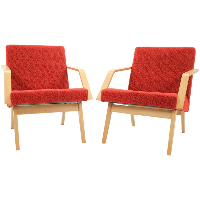 Set of Two Lounge Chair by Expo 58 Brusel, 1958's For Sale