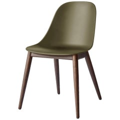 Harbour Side Chair, Base in Dark Oak, Olive Shell