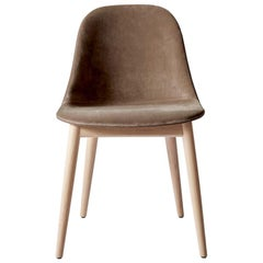 Harbour Side Chair, Base in Natural Oak, City Velvet CA7832/078 'Grey'