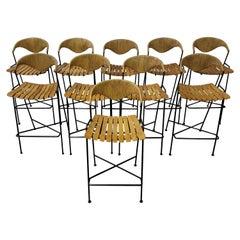 Set of Ten Arthur Umanoff Bar Stools