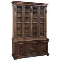 19th Century French Renaissance Walnut Bookcase