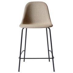 "Harbour Side Chair, Counter Height Base in Black Steel, Kvadrat ""Remix 2"""