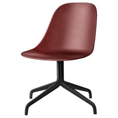 Harbour Side Chair, Black Steel Swivel Base, Burning Red Shell