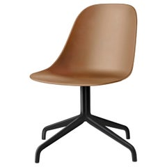 Harbour Side Chair, Black Steel Swivel Base, Khaki Shell