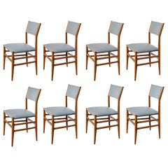 "Set of Eight ""Leggera"" Dining Chairs by Gio Ponti"