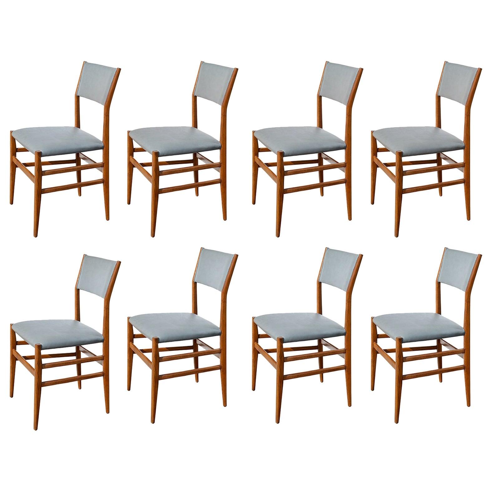 "Set of Eight ""Leggera"" Dining Chairs by Gio Ponti"