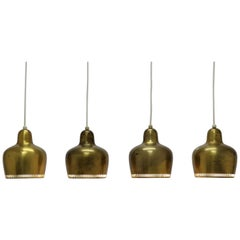 Alvar Aalto Set of 4 Aaltopendants 'Model 16531' for Louis Poulsen, 1960s