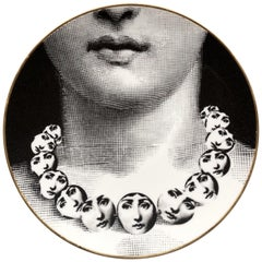 Fornasetti Rosenthal Porcelain Plate, Temi e Variazioni, Themes and Variations