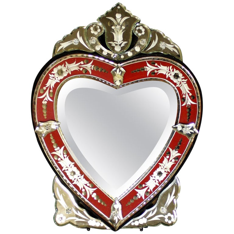 Venetian Wall or Tabletop Mirror For Sale