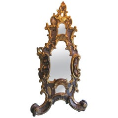 1750s Baroque Table Mirror Made of Basswood