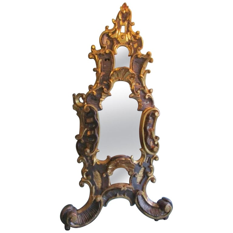 1750s Baroque Table Mirror Made of Basswood For Sale