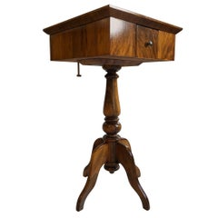 Biedermeier Style Game Table or Chess Table