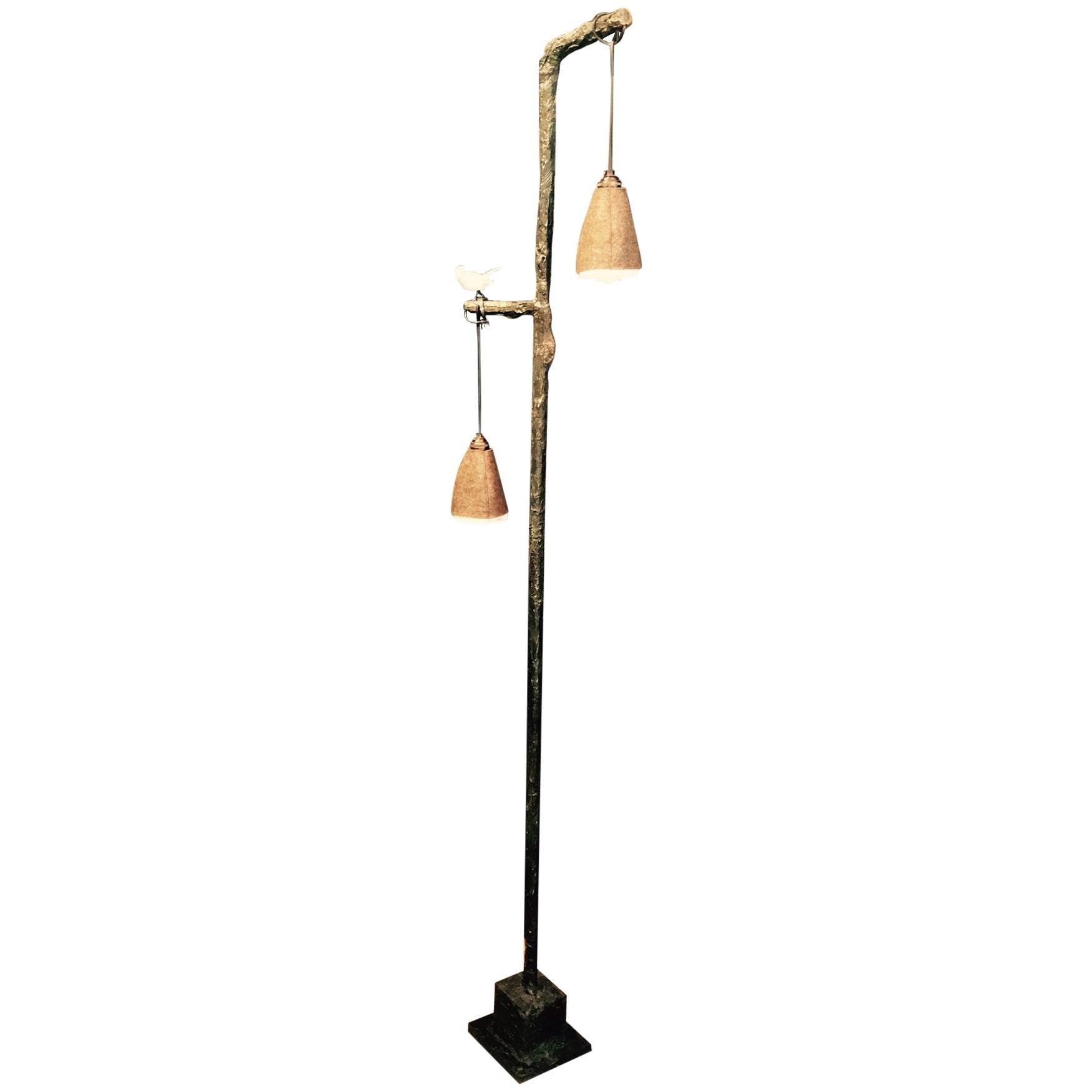 Bronze Floor Lamp by Thierry Dreyfus