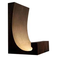 Cedar Virgule Floor Lamp in Walnut by Thierry Dreyfus