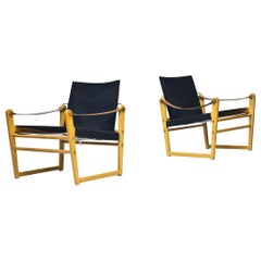 "Pair of Scandinavian Modern ""Cikada"" Easy Chairs by Bengt Ruda, Sweden, 1960s"